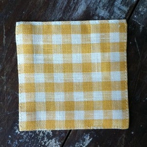 Image of Coasters: Yellow Check