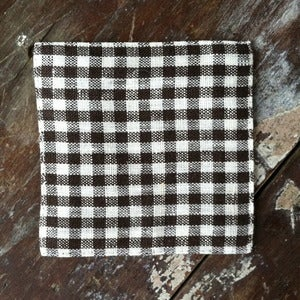 Image of Coasters: Brown White Check
