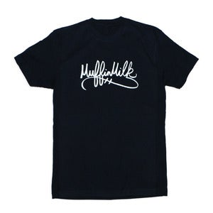 Image of The Signature Tee (White/Navy)