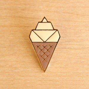 Image of Origami pins: Ice Cream