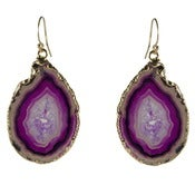 Image of Pink Agate Earrings