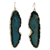 Image of Blue Agate Earrings