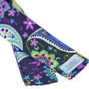 Image of Padded Camera Strap Cover: Purple Paisley Spree