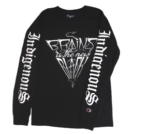 Image of BLACK INDIGENOUS LONG-SLEEVE TEE