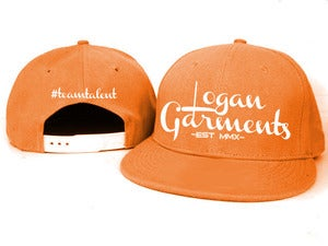 Image of Logan Garments Snapback (ORANGE/WHITE)