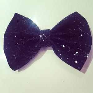 Image of Black Glitter Hair Bow