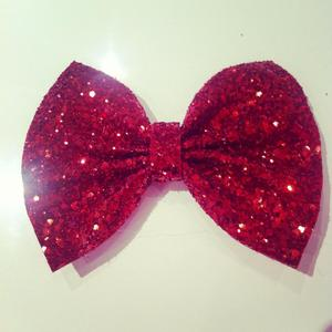 Image of Red Glitter Bow