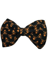 Image of Handmade Black and Gold Print Hair Bow Clip