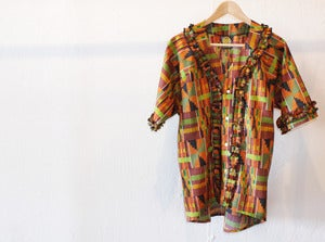 Image of CUSTOM MADE - KENTA PRINT RUFFLE SHIRT
