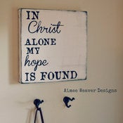 Image of Handpainted Canvas &quot;In Christ Alone&quot; 12x12