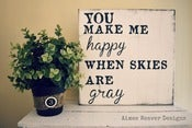 "Image of Handpainted Canvas ""You make me happy"" 12x12"