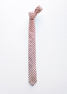 Image of red cotton stripes tie