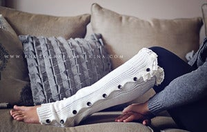 Image of ADULT! Button Down Lace Legwarmers