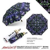 Image of FILTER017 X  EVANGELION - EVA-01 FOLK STYLE FOLDING UMBRELLA