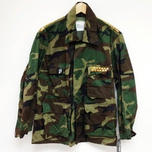 Image of HONORABLE STUDDED VINTAGE ARMY JACKET
