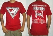"Image of PYREXIA & BEHEADED ""Europe Tour 2013"" Short Sleeve (Red)"