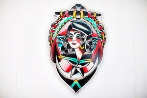 Image of Sailor Girl Tattoo Wood Cutout by Rocco