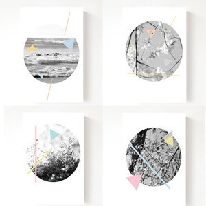 Image of Summer Geo - set of 4 postcards