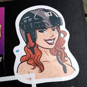 Image of Black Helmet Sticker