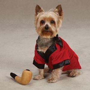Image of Party Hounds Smoking Jacket Dog Halloween Costume