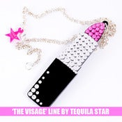 Image of XL Crystal Lipstick Necklace