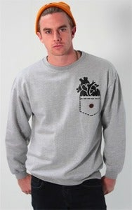 Image of &amp;#x27;Heart pocket&amp;#x27; Sweatshirt