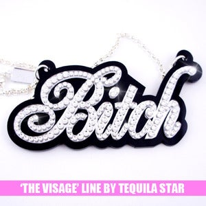 Image of XL Crystal Bitch Necklace