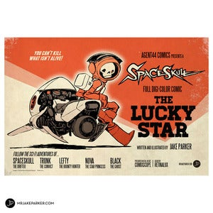 Image of Spaceskull: The Lucky Star Print