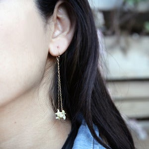 Image of large rattlesnake vertebrae earrings