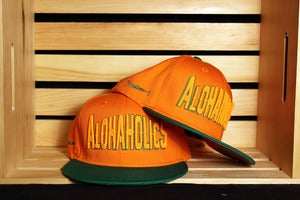 Image of Block Snapback (Orange/Green)