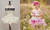 Image of Vanilla Cream Pettiskirt - Newborn, 6 - 12 Month, 1-2 Yr, 2-4 Yr - Full of Ruffles
