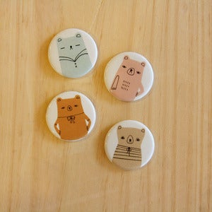 Image of Set of 4 Bear Magnets by Andrea Kang