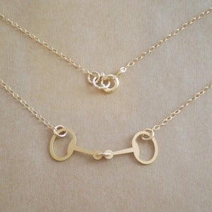 Image of Tiny Horse Bit Necklace