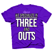 Image of MENS/YOUTH: THREE N' OUTS T-SHIRT