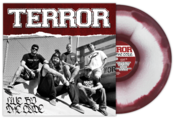 Image of Terror &quot;Live By The Code&quot; LP Oxblood/White Mix Vinyl