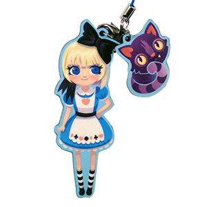 Image of Alice + Cheshire Cat Charm Set