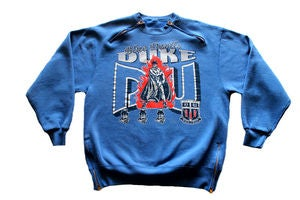 "Image of Men's D.Fame Custom ""Duke Blue Devils"" Crewneck"