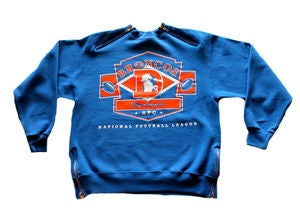 "Image of Men's D.Fame Custom ""Denver Broncos"" Crewneck"