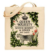 Image of Queen Majesty Hot Sauce Tote Bag