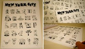 Image of New York City Alphabet Poster