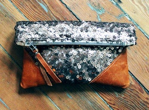 Image of +Sold Out+ LIBRO CLUTCH - ROSE GOLD SEQUIN