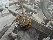 Image of Monogram Locket - Antiqued Brass