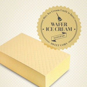 Image of Wafer Ice Cream Notepad  Sweet Corn
