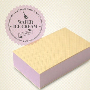 Image of Wafer Ice Cream Notepad - Yam