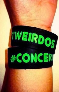 Image of SALE!! Restocked! Black/Limegreen #CONCERTWEIRDOS