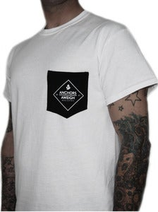 "Image of ANCHORS AWEIGH RECORDS ""Arp Xp Logo"" pocket t shirt"