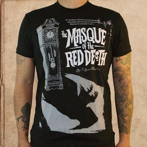 Image of Masque of the Red Death - poe - discharge ink - unisex