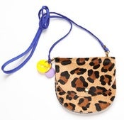 Image of NEW Cheetah Blue Strap Largeish Leather Locket Handbag!