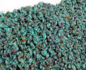 Image of Overdyed Reclaimed Pulled Silk Yarn: Dark Sea Green