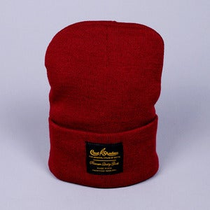 Image of Gold Label Beanie (Burgundy)